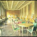 Interior of the Amerika Haus, (formerly Fuhrerbau). Perhaps in the late 1950's