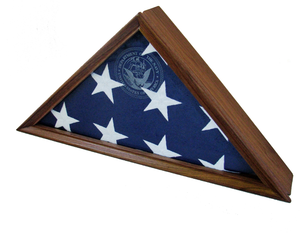 Walnut Flag Display Case For A 539 X 9395quot Flag
