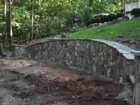 Curved Retaining Wall in New Jersey  Millenium Stoneworks
