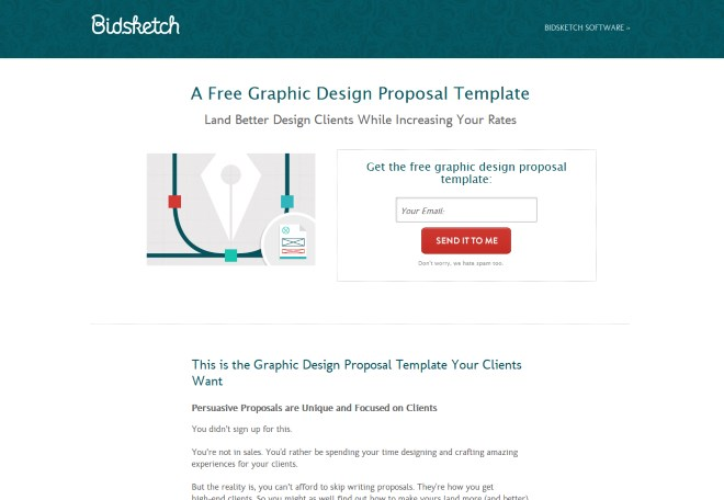 How to boost your clientsu0027 revenue with landing pages - graphic design proposal template