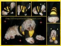 Bumble bee dog costume patterns | FREE PDF DOWNLOAD