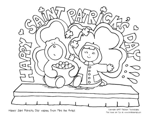 St Patrick\u0027s Day Coloring Page