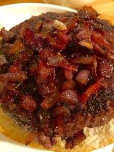 Caramelized onions and bacon