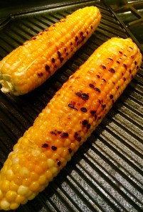 Grill the corn whole for smoky flavor.