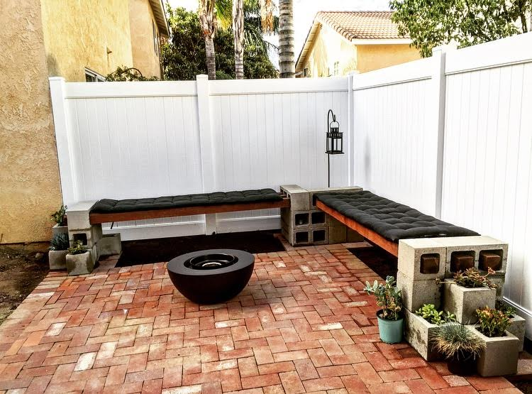 Diy Cinder Block Bench Mince Republic
