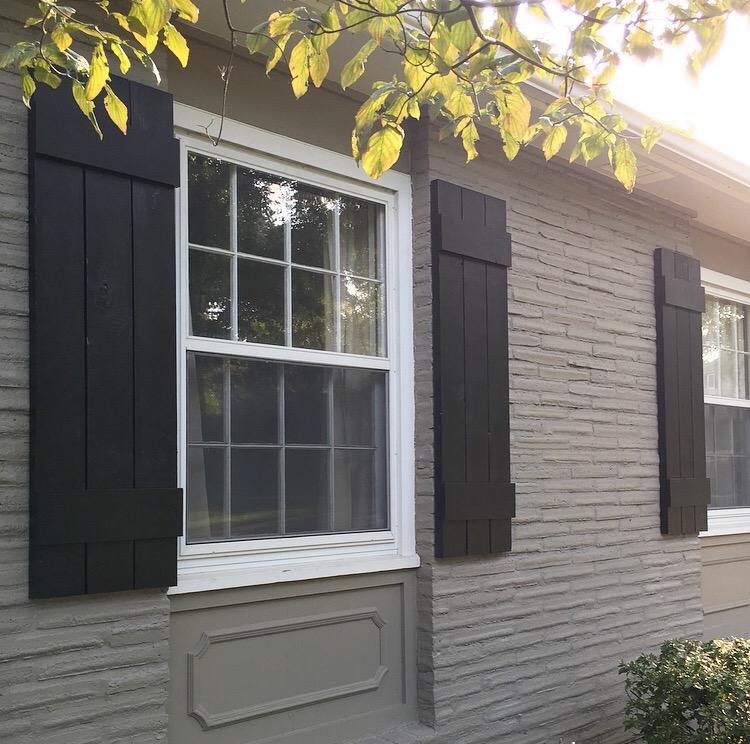 DIY Exterior Shutters