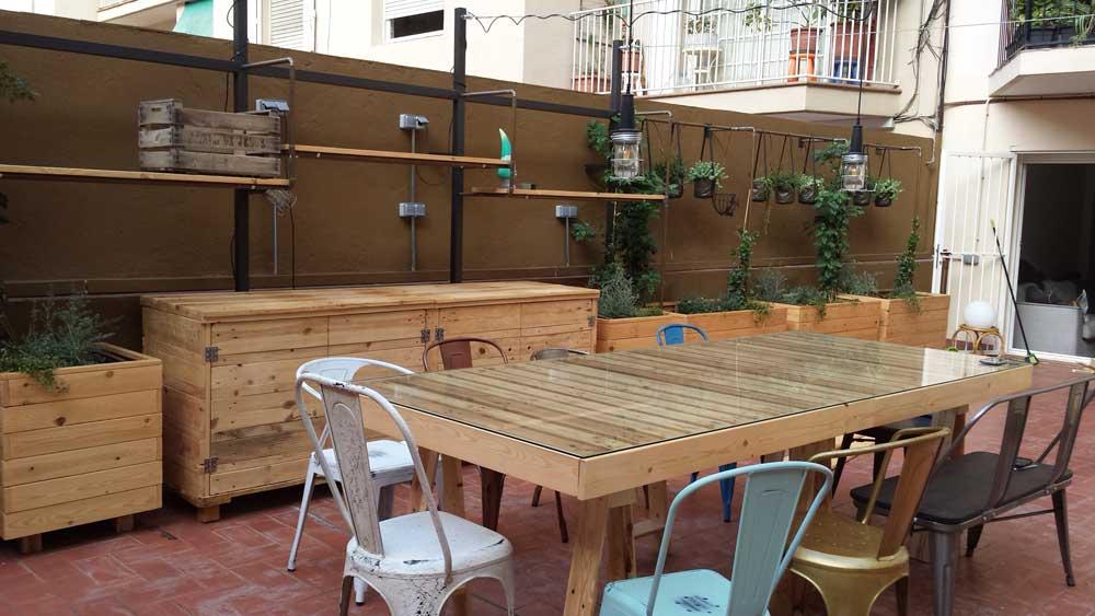 Muebles para Terrazas de Palets y Madera de Pino natural Mind Made - Terrazas Con Palets