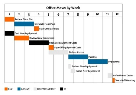 Gantt Charts - Project Management Tools from MindTools - gantt chart