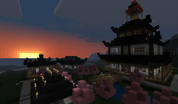big building decorate by coterie craft texture pack.