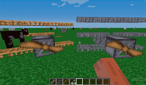 imagen donde podemos ver dos ejemplos de planeadores que podemos crear con este mod.