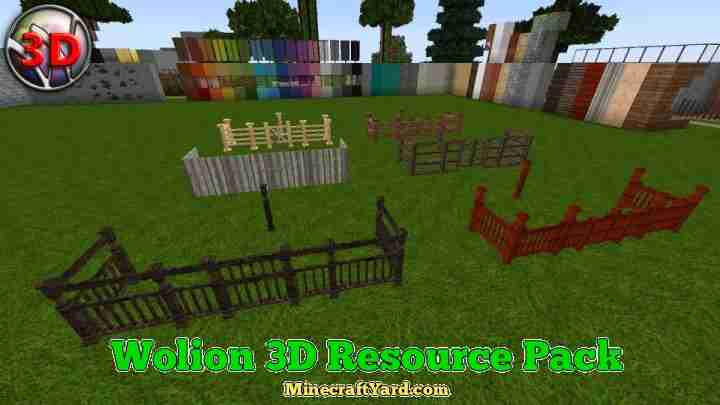 Wolion 3D Resource Pack 1131/113/1122/1112/1102 Minecraft