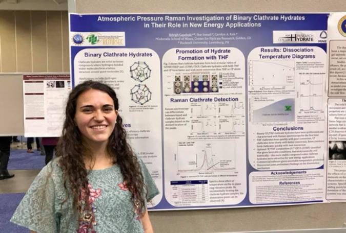 REU program alum wins AIChE award for research poster Colorado - research poster