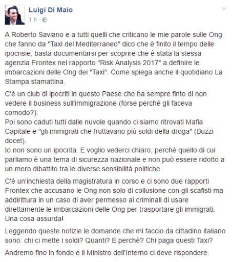 Post di Luigi Di Maio