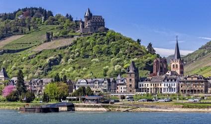 Bacharach vue du Rhin