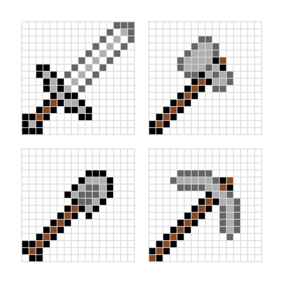 Hama Bead Templates Minecraft
