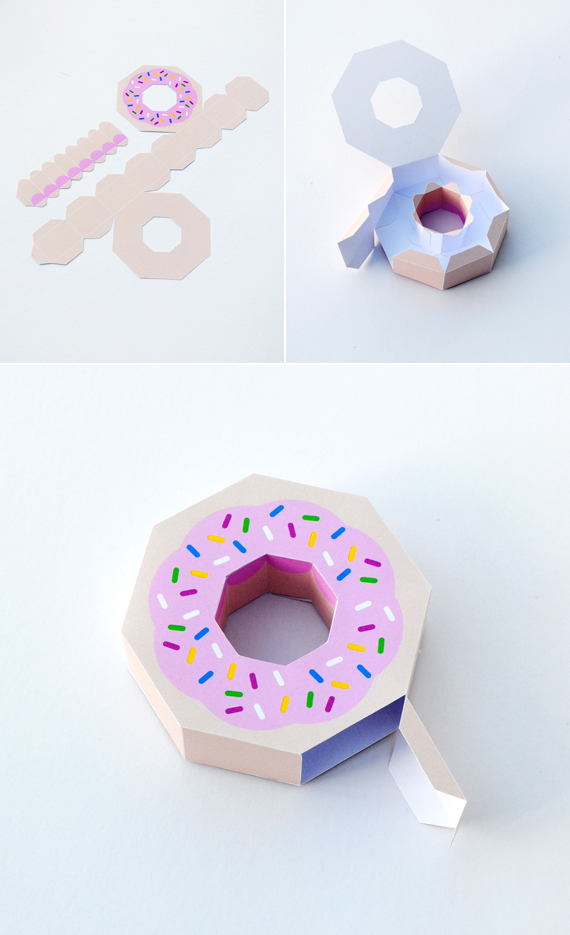 Giftwrap   Paper Donut! Minieco - donut template