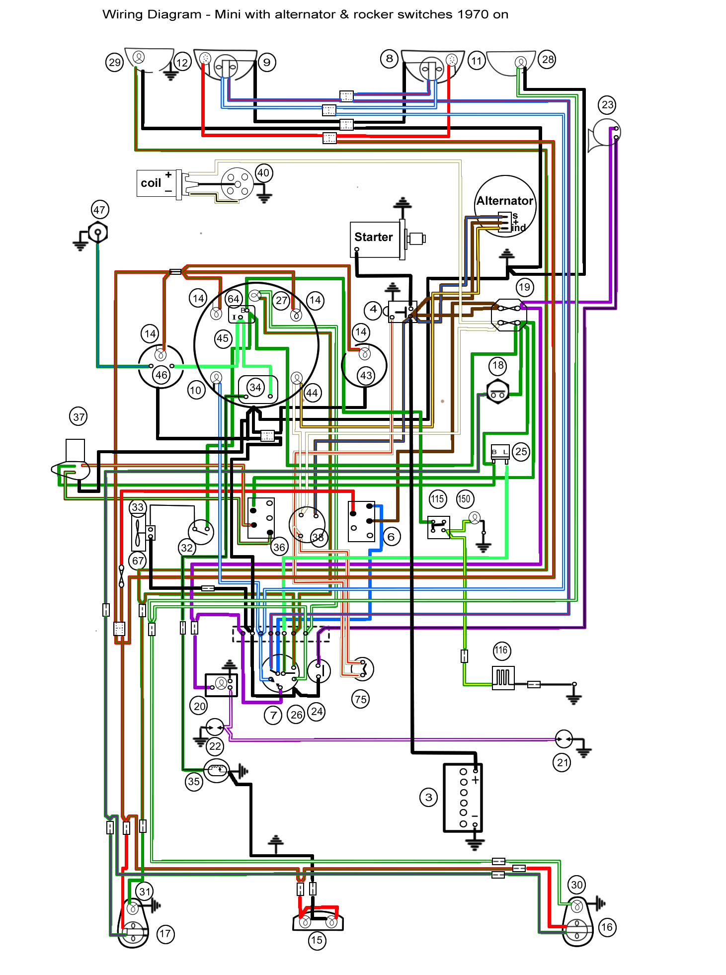 Mini Cooper Lights Wiring Diagram Auto Electrical Cruzin Cooler Minifinity The Classic Forum And Resource