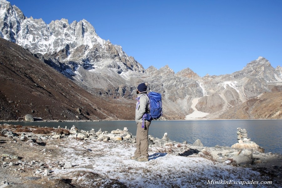 Gokyo lake after a snow shower