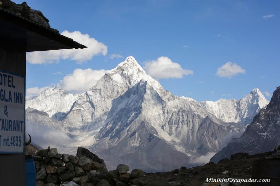 Ama dablam from the Dzongla village