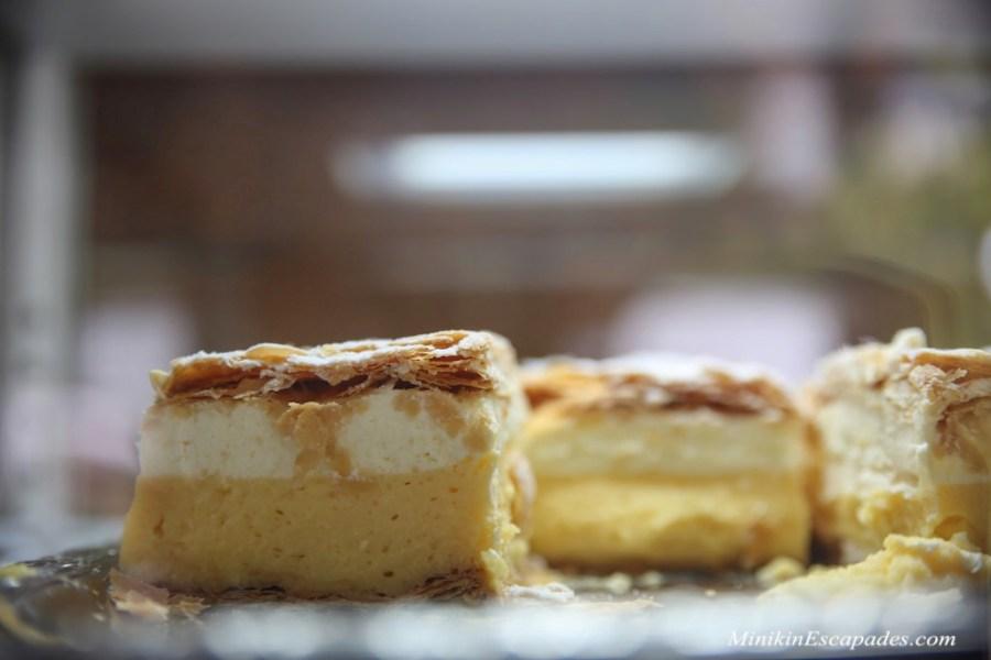 Bled custard cake in Slovenia