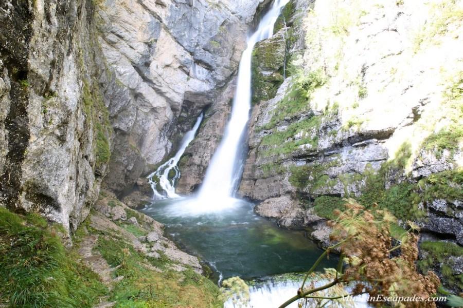 Slap savice waterfall in Slovenia