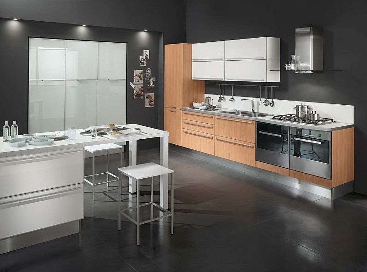 floor and wall coverings in the kitchen kitchen floor options Minimalist kitchen design