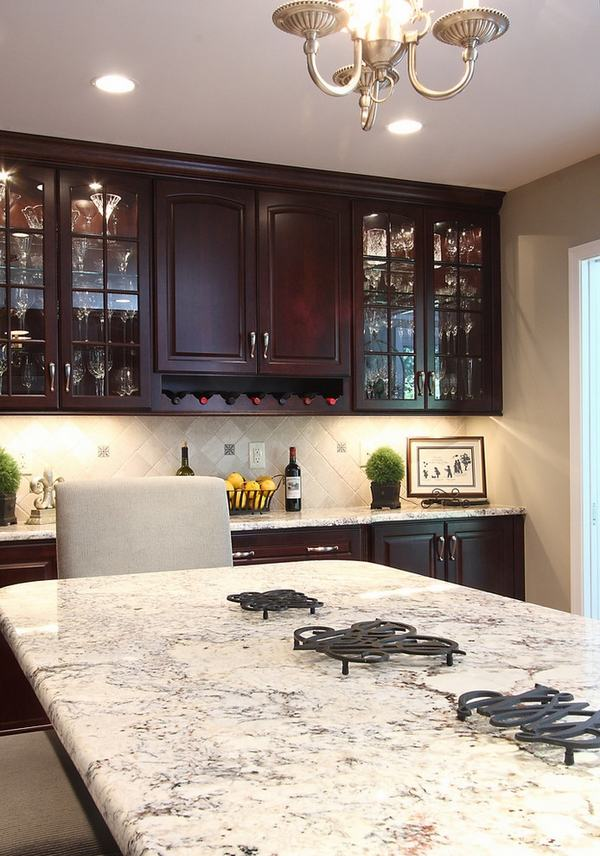 Contemporary Granite Kitchen Countertops Colors With White Cabinets The beautiful Bianco Romano granite countertops in modern kitchens