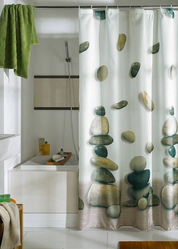 25 unique designer shower curtains in the bathroom for a