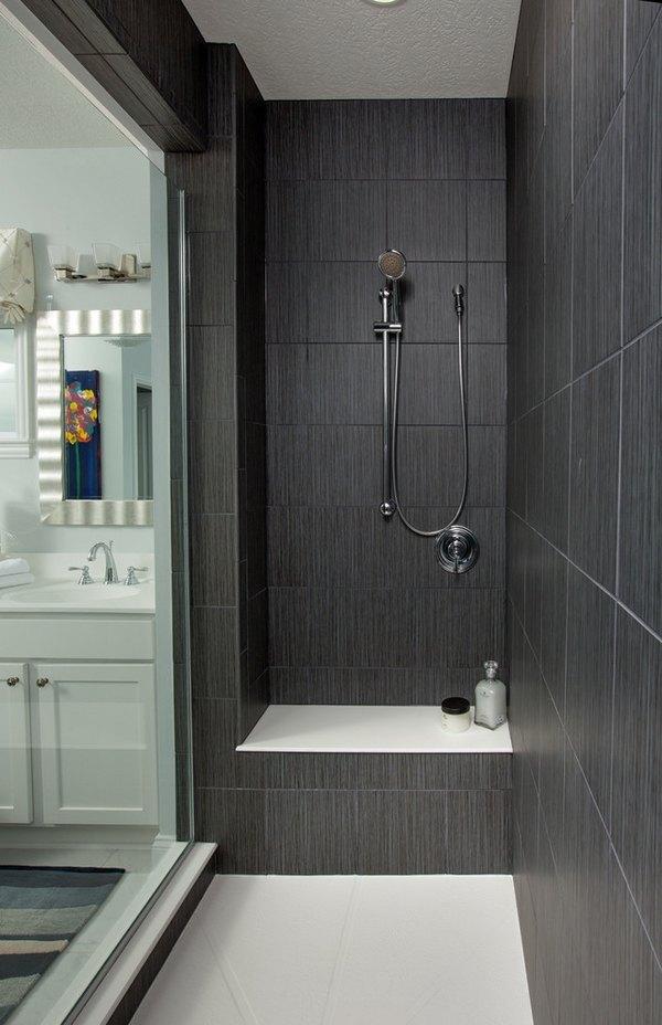 Large shower tiles walk in shower ideas contemporary bathroom design