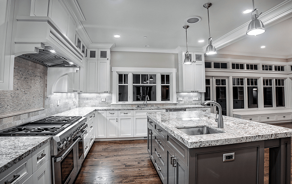 Modern kitchen white ice granite countertops modern kitchen lighting