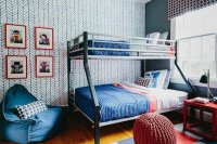 Accent wall ideas for a modern and fascinating kids bedroom