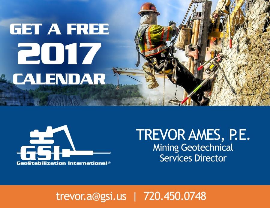 Get a FREE GeoStabilization International 2017 wall calendar