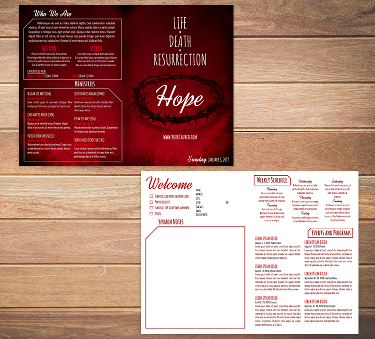 FREE Church Bulletin Templates - 8 Professionally-Designed Bulletins - church bulletin template