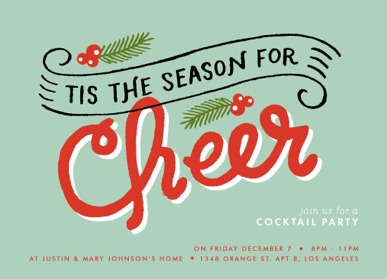 Special Prize Winners Holiday Party Invites + New Year\u0027s Cards Julep