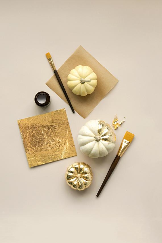 How To Gold-Leaf A Pumpkin | Julep