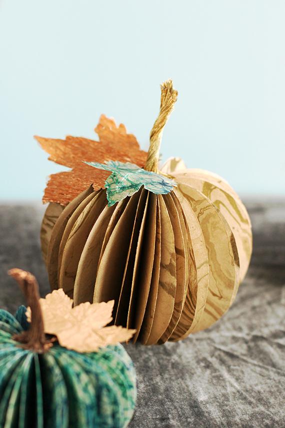 Paper Pumpkin Centerpiece Julep