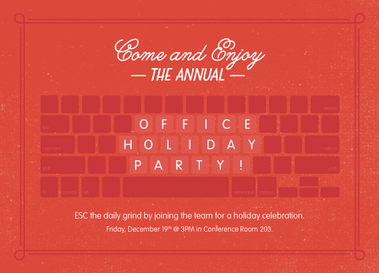 Holiday Party Invitations Challenge Special Prize Winners Julep - holiday celebration invitations