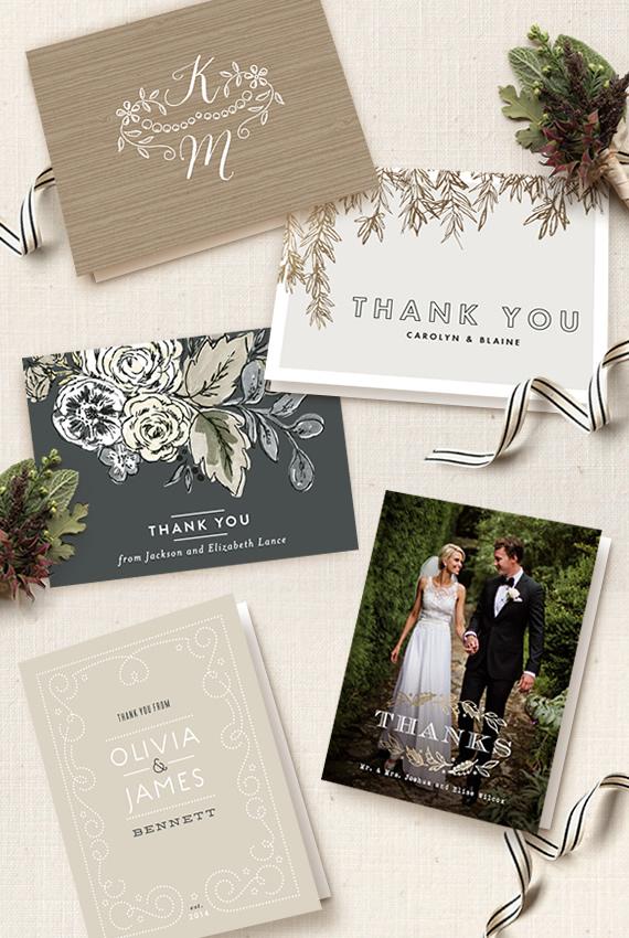 Wedding Thank-You Card Etiquette Julep