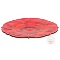 mosser red cake plate | Minted and Vintage Dessert Stand ...