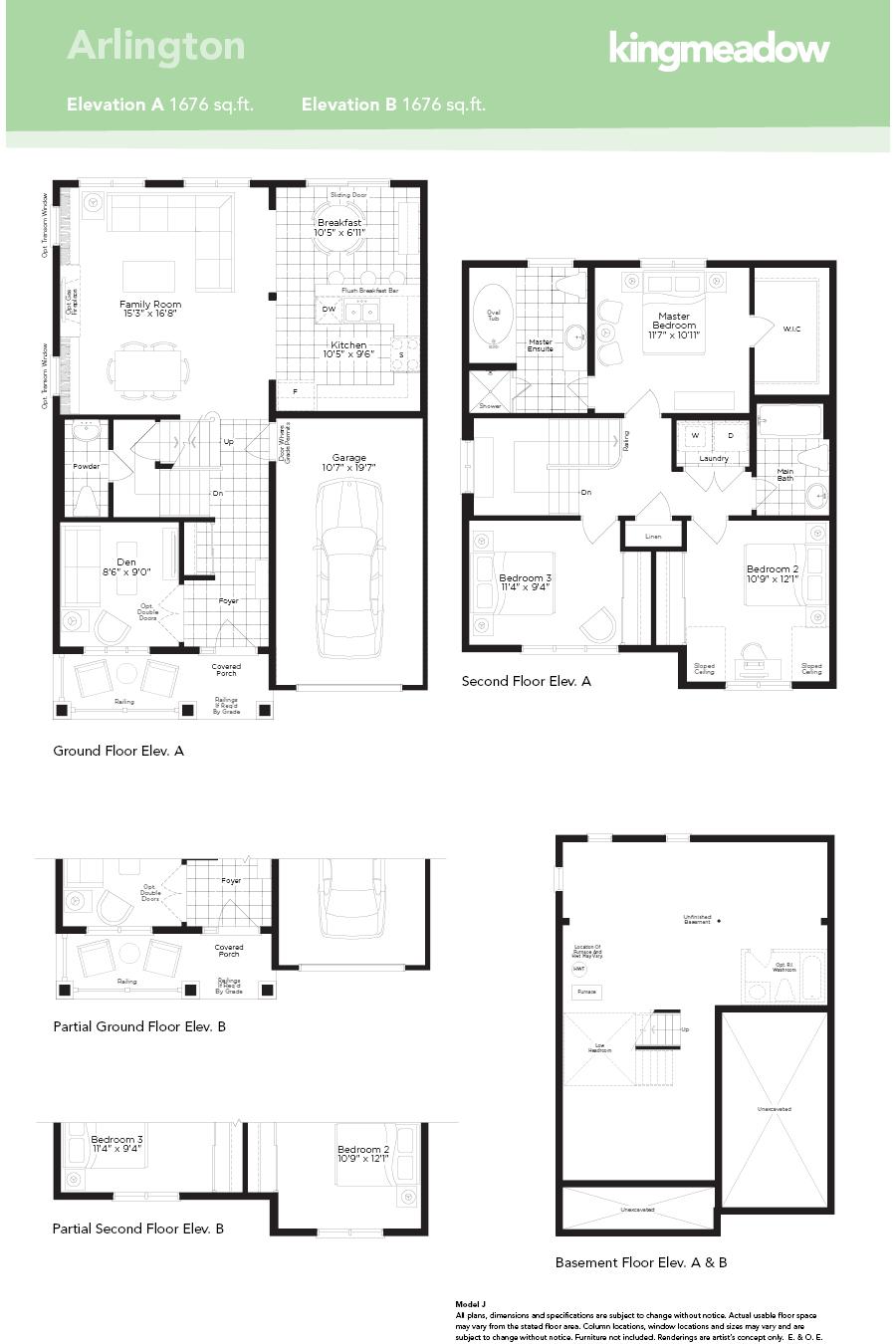 Kingmeadow Arlington Model Oshawa New Homes Minto