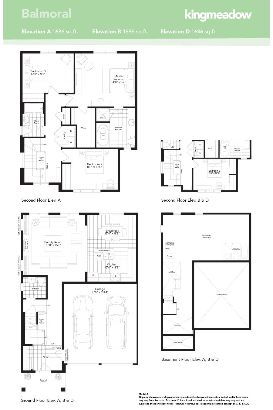 Kingmeadow Balmoral Model Oshawa New Homes Minto