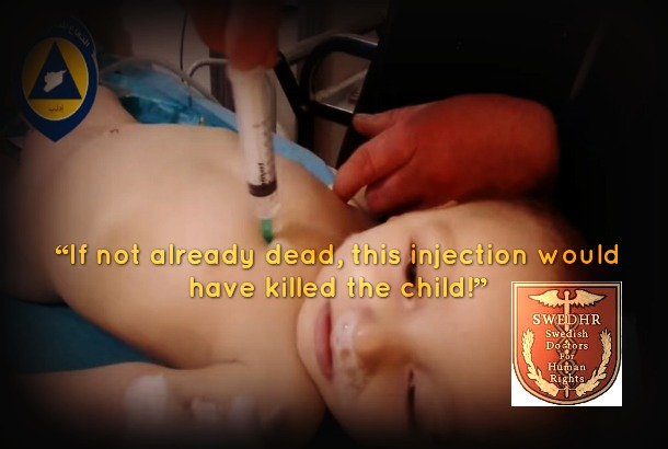 Image created from screenshot of White Helmets' UN video report (Vanessa Beeley)
