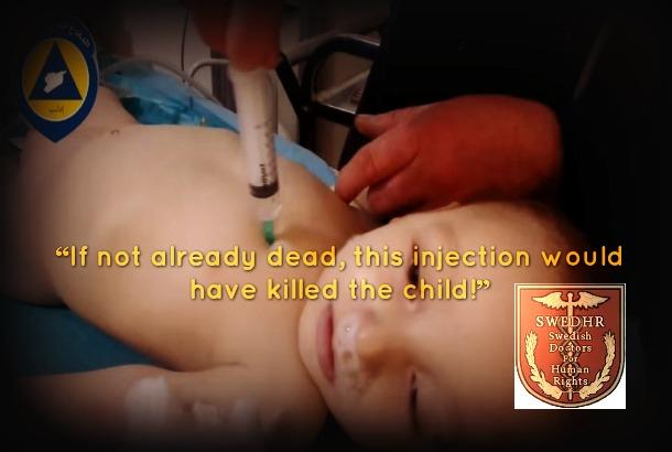 Image created from screenshot of White Helmets' UN video report (Vanessa Beeley)