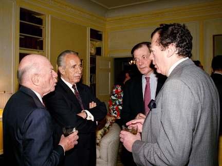 Shimon Peres Edgar Bronfman Mega Group