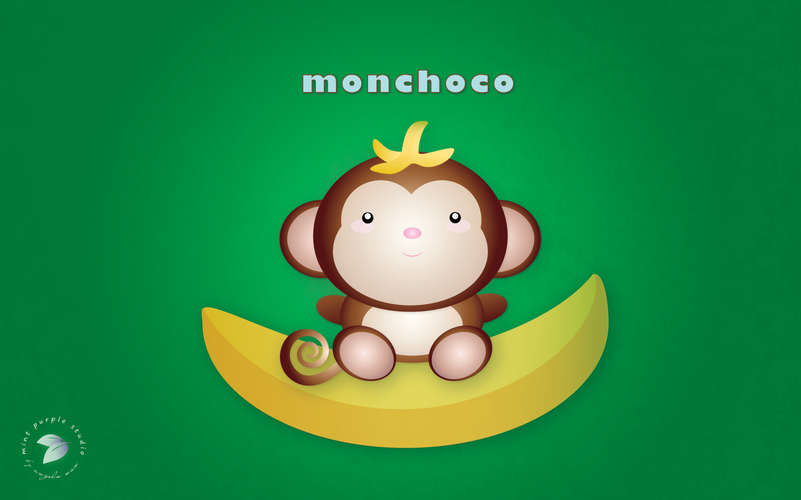 Monkeys And Bananas Cute Wallpaper For Girls Character Series Monchogo And Monchoco The Monkey Twins