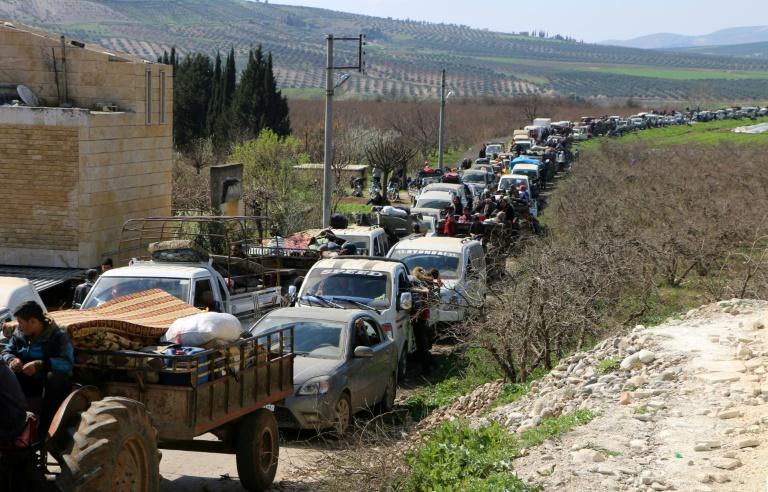 Entrée d'un convoi humanitaire dans la Ghouta — Syrie