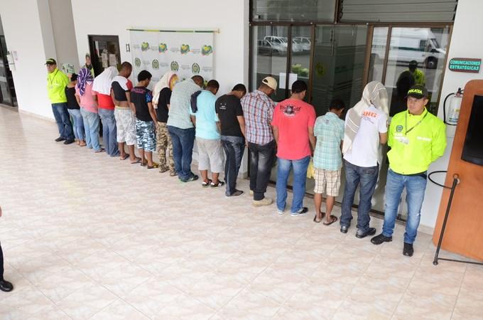 DSC 4424 Copiar Capturados en Caucasia, 13 integrantes de la banda Criminal Urabá