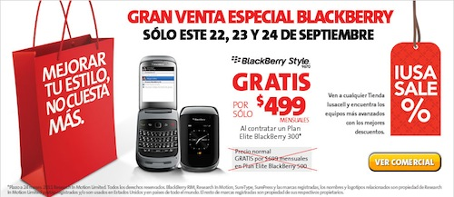 Blackberry Style en Iusacell