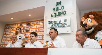 Anuncia Gobernador nuevo rostro a la casa de Los Leones de Yucatán