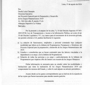 Desde Lima, Perú  ¿Corrupción en Proyecto Panamericano 2019?